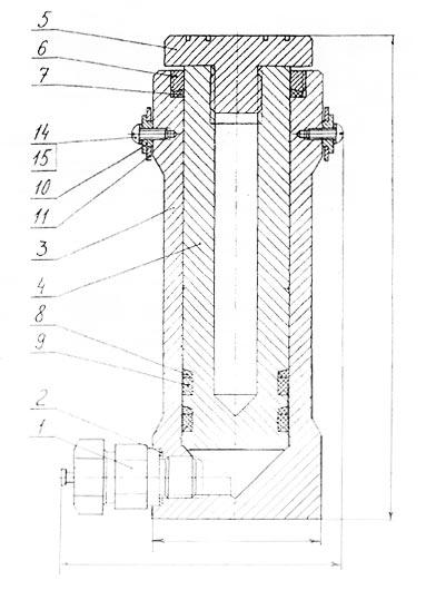 Схема гидравлического силового