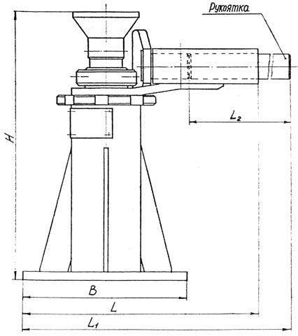 Схема винтового домкрата.