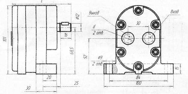 Схема насосов Г11-11, Г11-11А